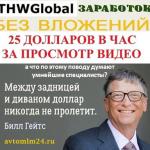 THWGlobal как работать или 850.000 глупцов